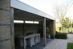 Nieuwbouw veranda met schutting te Otterlo